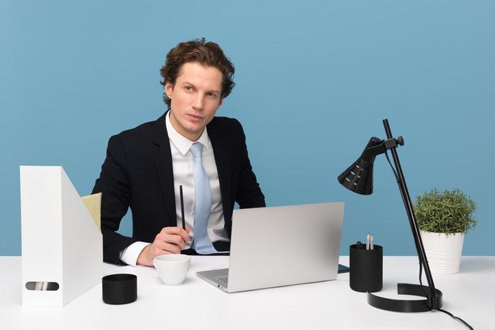 A man working on accountancy