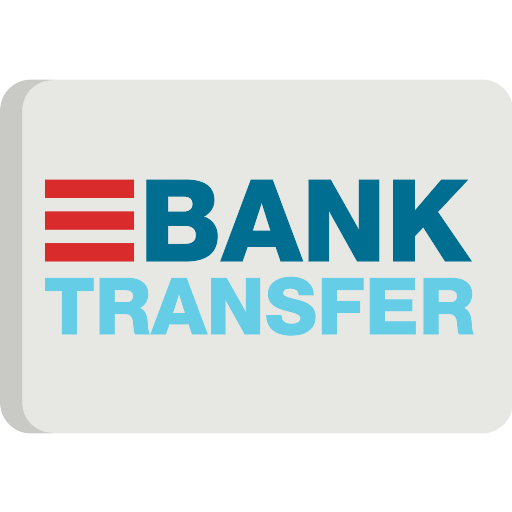 bank transfer icon on grey background