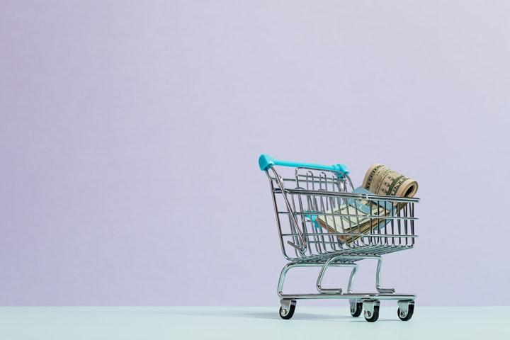 cash shopping cart